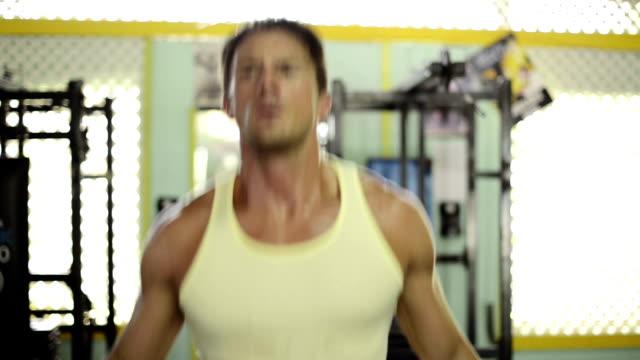 Man exercising in a gymnasium