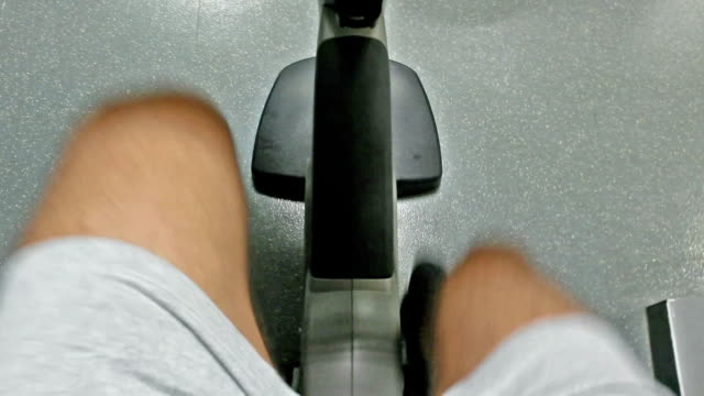 man exercising in the gym - exercise bike stock videos & royalty-free footage
