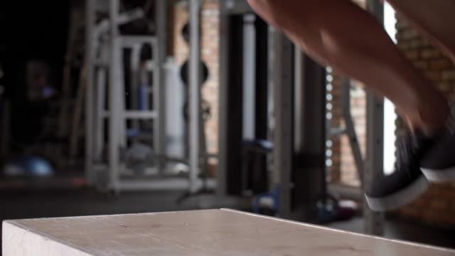 man exercising/ mielec/ poland - podkarpackie voivodeship video stock e b–roll