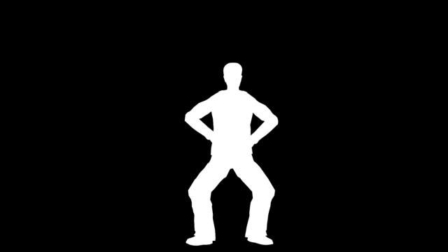Man Exercising Silhouette