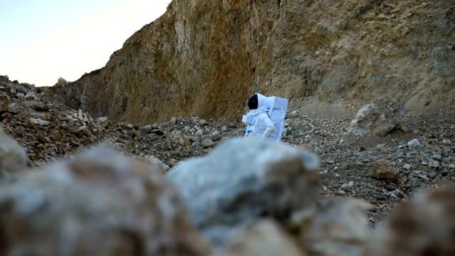 Man exploring on Mars