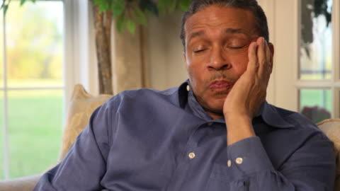 man expresses despair and worry - despair stock videos & royalty-free footage