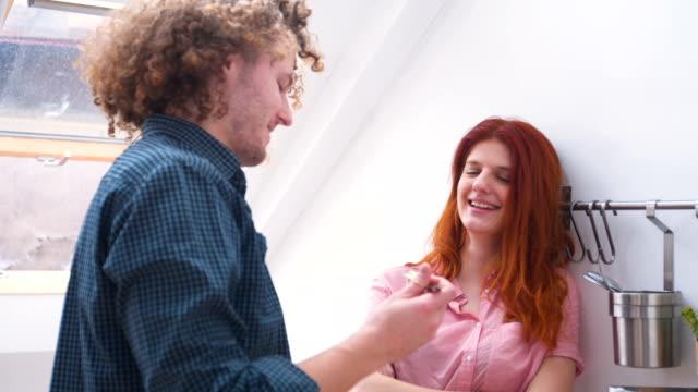 man feeding his girlfriend - 25 29 ans stock videos & royalty-free footage