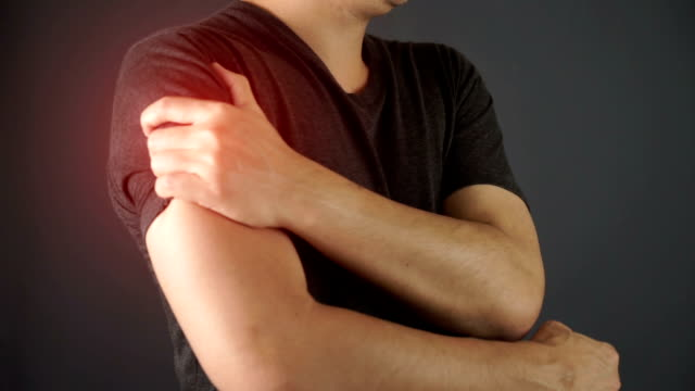 man feel pain on his shoulder - pain stock videos & royalty-free footage