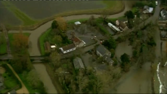 man fined for opening sluice gate on the somerset levels during floods lib / 2712014 flooded residential area end lib - somerset levels stock videos and b-roll footage