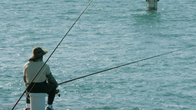 Man fishing in Gold Coast