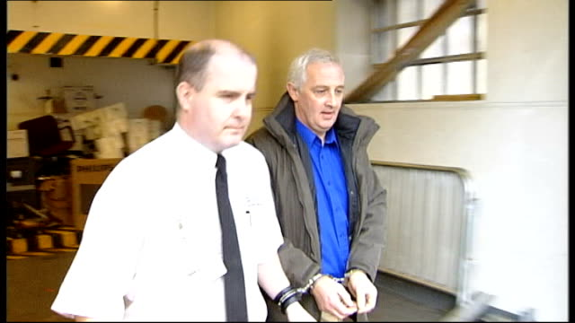man found guilty of murdering wife after being freed on appeal; scotland: ext slow motion nat fraser lead along by prison guard in handcuffs... - prison guard stock videos & royalty-free footage