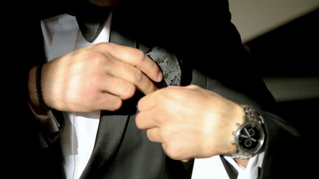 man getting ready for wedding - dressing up stock videos & royalty-free footage