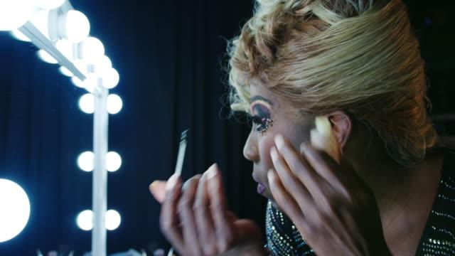 man gluing wig - cabaret stock videos & royalty-free footage