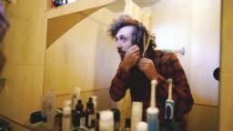 Man haircut during quarantine Covid-19