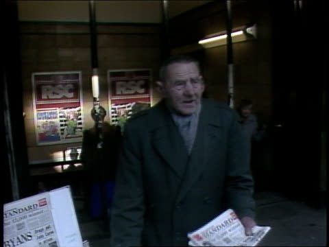 man handing out the standard paper in 1986 london - 1986 stock videos & royalty-free footage