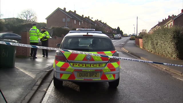 man has been arrested on suspicion of murder after a mother & son were found dead at a house in banbury in oxfordshire. david crabtree reports man... - 1 minute or greater stock videos & royalty-free footage