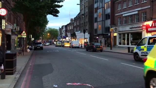 a man has died after being stabbed in upper street in islington north london at around 630pm on monday police were called at approximately 630pm on... - sadiq khan stock videos and b-roll footage