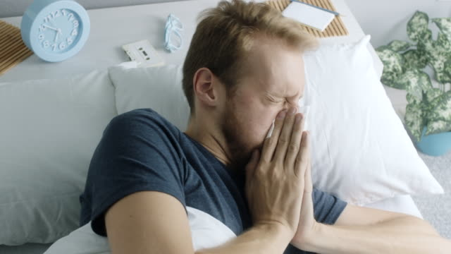 man having a cold - illness stock videos & royalty-free footage