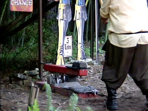 男性にハンマーを打つ anvil フェスティバルオブライツ - 説得点の映像素材/bロール