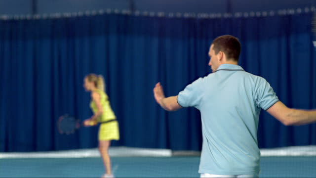 ms man hitting forehand and backhand strokes - forehand stock videos & royalty-free footage