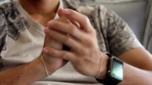 man hold hands - watch timepiece stock videos & royalty-free footage