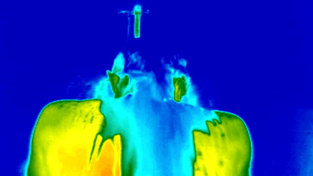 """man in a cold shower, themography"" - thermal imaging stock videos & royalty-free footage"