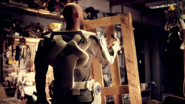 man in exoskeleton - exoskeleton stock videos & royalty-free footage
