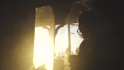 a man in isolation, looking out the window of his home - morning stock videos & royalty-free footage