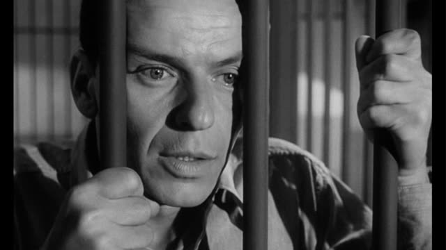1955 cu man (frank sinatra) in jail - frank sinatra stock videos & royalty-free footage