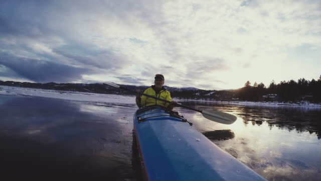 man in kayak - flathead lake stock videos and b-roll footage