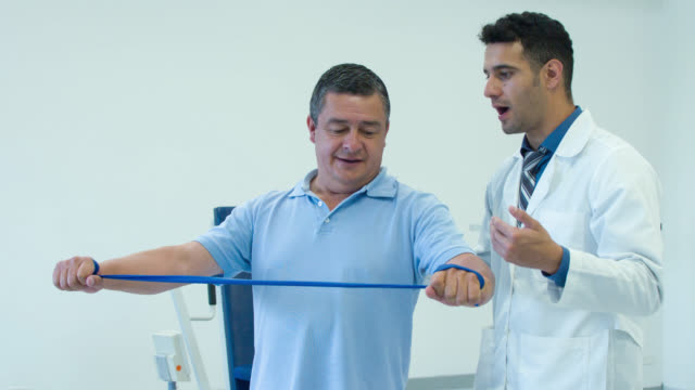 Man in physiotherapy