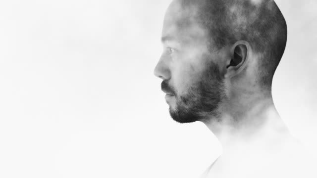 man in smoke double exposure - profile stock videos & royalty-free footage