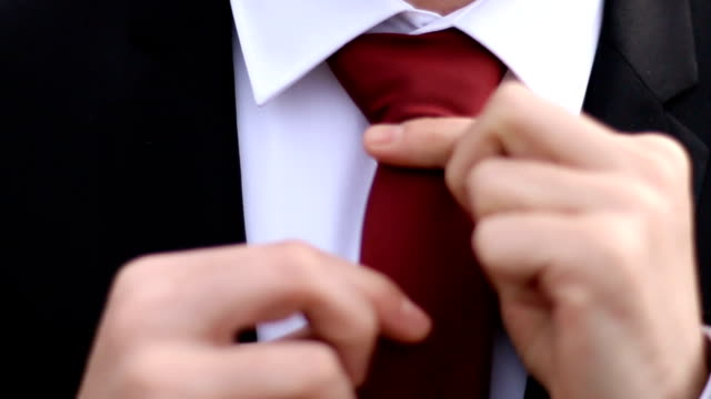 man in the suit fixing his tie - tie stock videos & royalty-free footage
