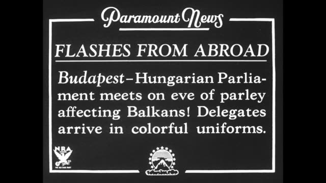 man in uniform and three women in furcollared coats arrive for session of hungarian parliament / vs arrivals men in elaborate brocaded uniforms with... - chin stock videos and b-roll footage