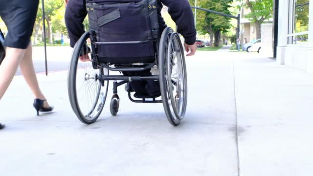 man in wheelchair - paraplegic stock videos & royalty-free footage