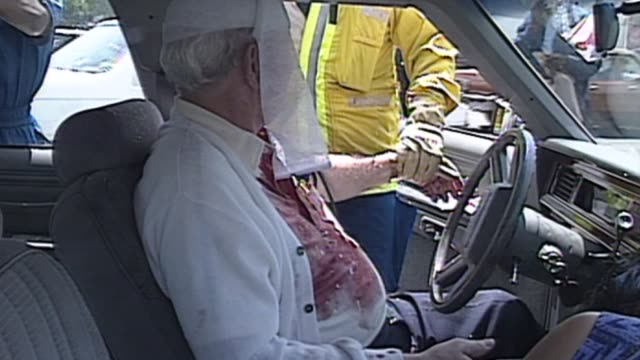 man injured in his car during la riots on april 29 1992 in los angeles california - 1992 stock videos and b-roll footage