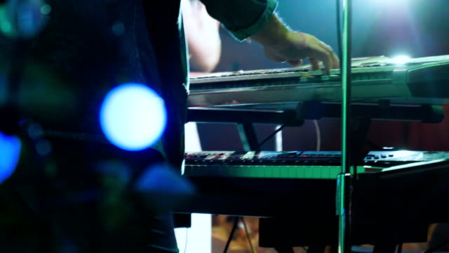 man is playing the piano. close up - computer key stock videos and b-roll footage