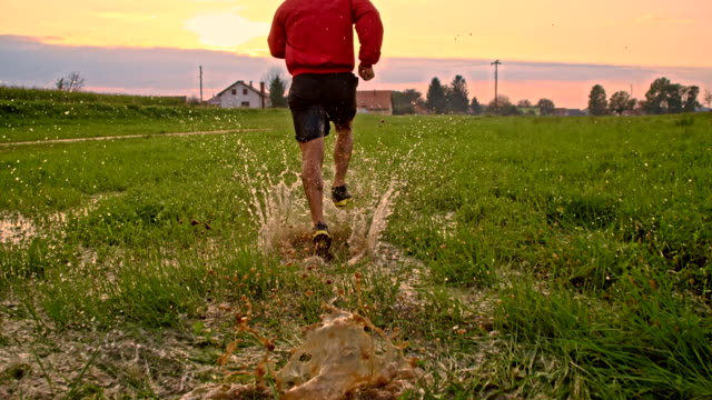 TS Man Jogging In The Meadow
