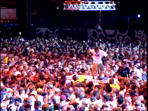 man jumping on equipment during a rave - 1999 stock videos & royalty-free footage