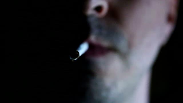 vídeos de stock e filmes b-roll de homem de charuto - animal mouth