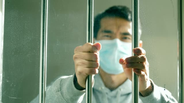 man lost freedom because of virus - asian man coughing stock videos & royalty-free footage