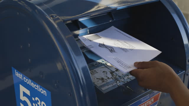 man mailing a ballot - letterbox stock videos & royalty-free footage
