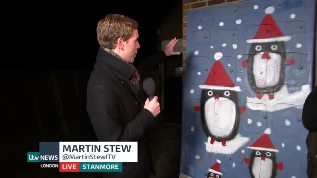 man makes ultimate advent calendar for wife england london reporter to camera ben hewins live interview sot - advent calendar stock videos & royalty-free footage