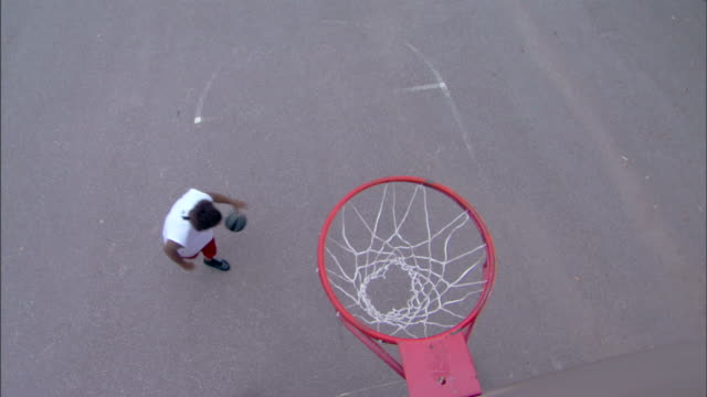 man making a lay-up - see other clips from this shoot 1281 stock videos and b-roll footage
