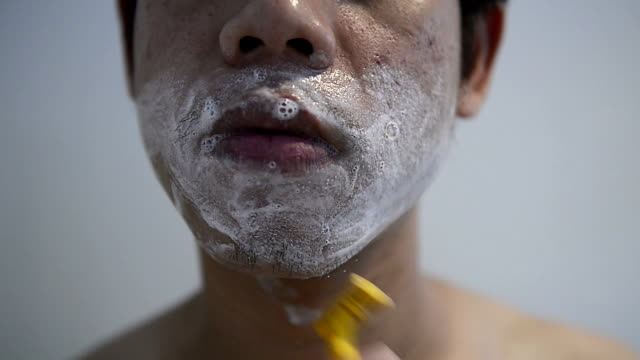 man man shaving - shaving stock videos and b-roll footage
