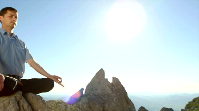 Man Meditating In The Nature