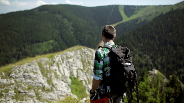 man mountain hiker - named wilderness area stock videos & royalty-free footage
