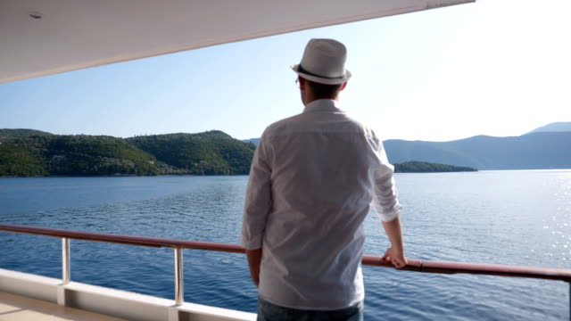 man on a boat deck - cruising stock videos & royalty-free footage