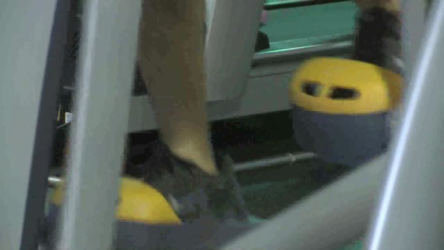 man on elliptical machine on august 04 2011 in dallas texas - cross trainer stock videos and b-roll footage