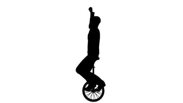 Man on unicycle ride (Loopable)