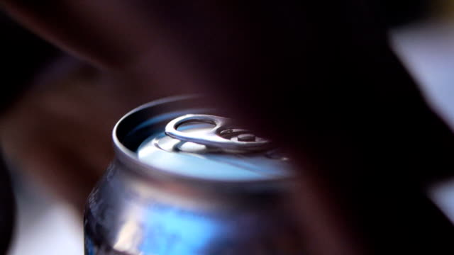 man opening beer can, close up - tin can stock videos & royalty-free footage