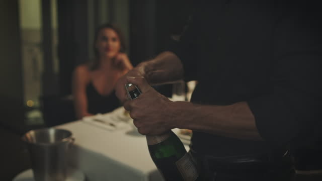 man opening bottle - romance stock videos & royalty-free footage