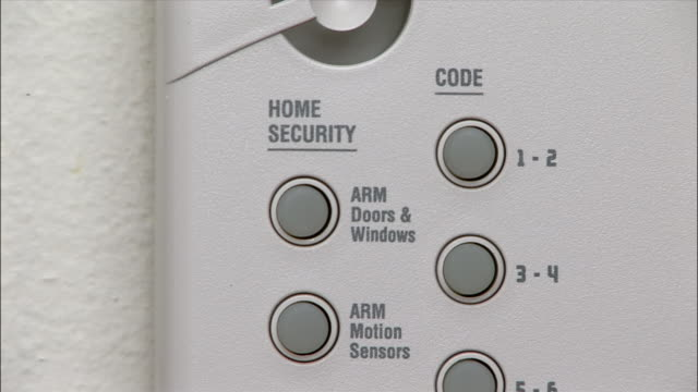 ECU, man operating security system in home