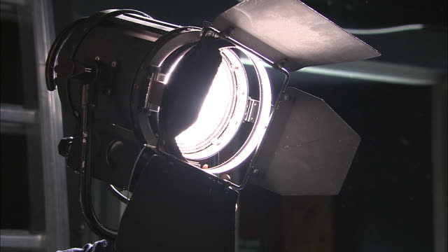 CU, Man operating stage light, close-up of hand